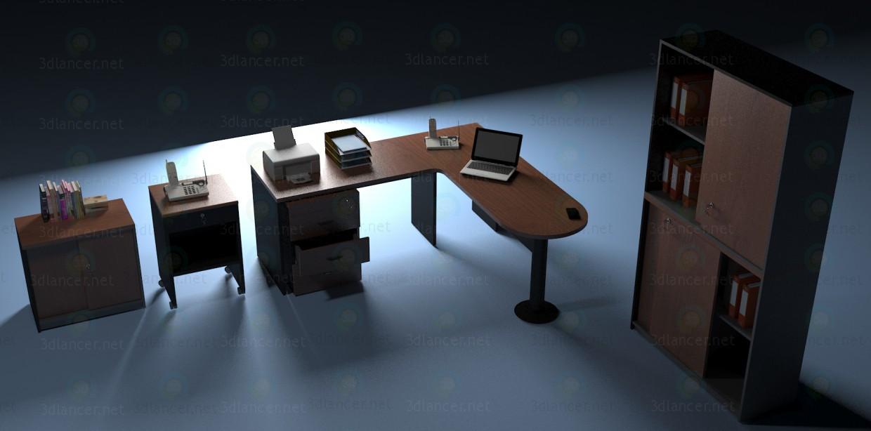 3d моделирование Офисная мебель модель скачать бесплатно