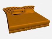 Кровать двуспальная SUPER ROY CAPITONNE