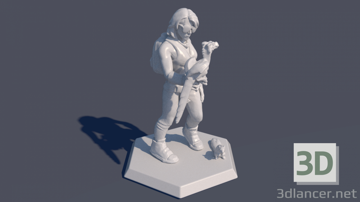3d Figurine model buy - render