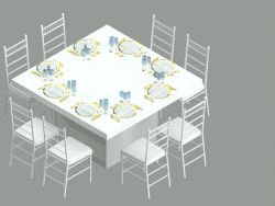 EVENT TABLE WITH DINING SET