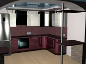 burgundy kitchen