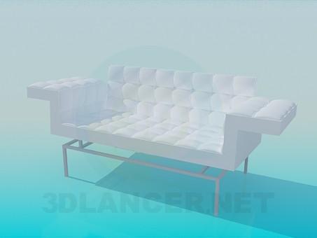 modelo 3D Sofá con brazos de grandes - escuchar