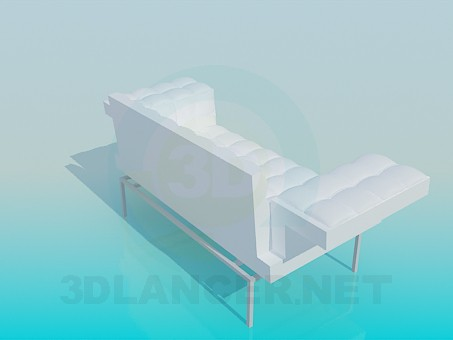 3d model Sofa with wide armrests - preview