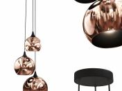 Pendant lamp Copper Trio