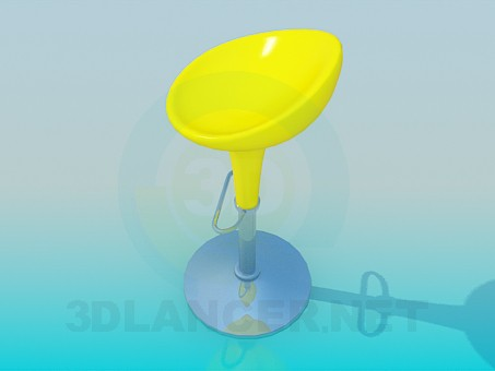 3d моделирование Барный стул модель скачать бесплатно
