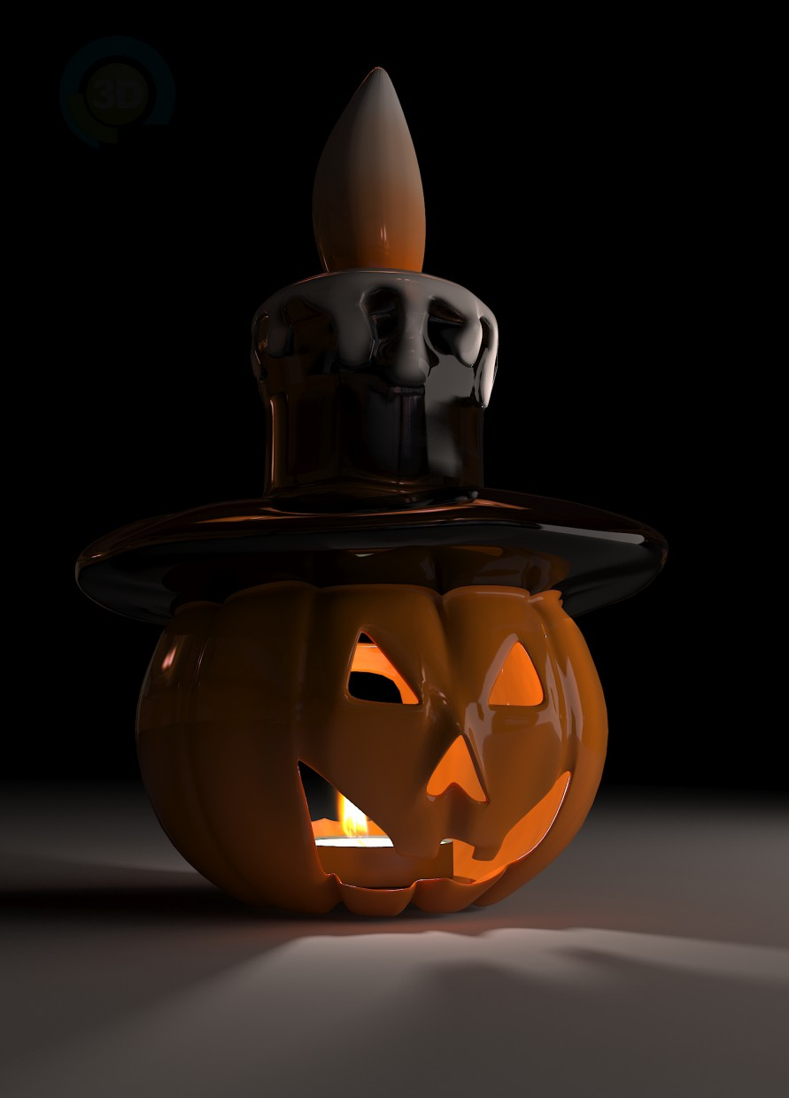 3d model Candlestick-pumpkin - preview