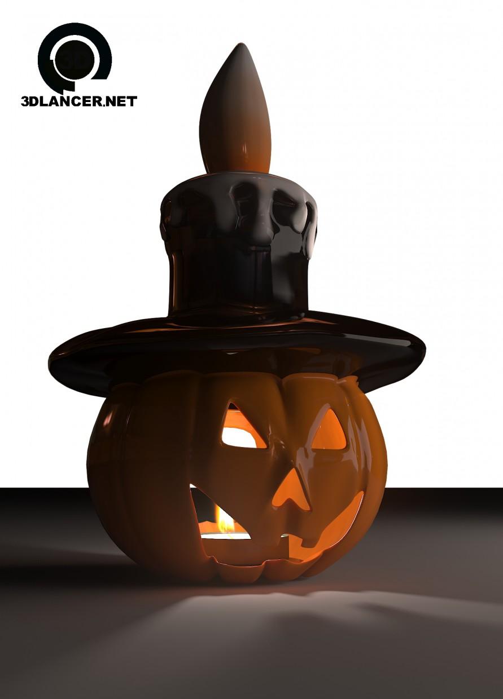 modelo 3D Vela calabaza - escuchar