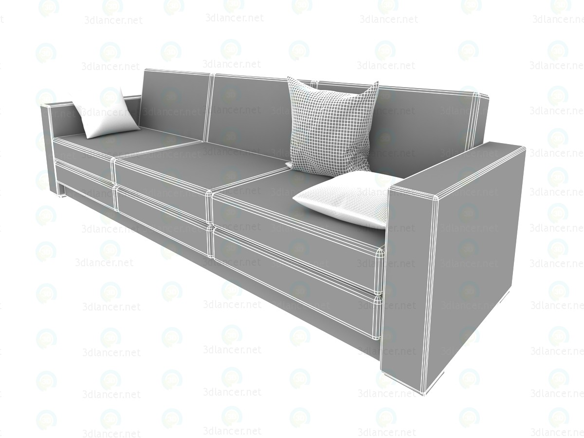 3d model sofa minimalism 2700h800h800mm style loft for Sofa 3d model