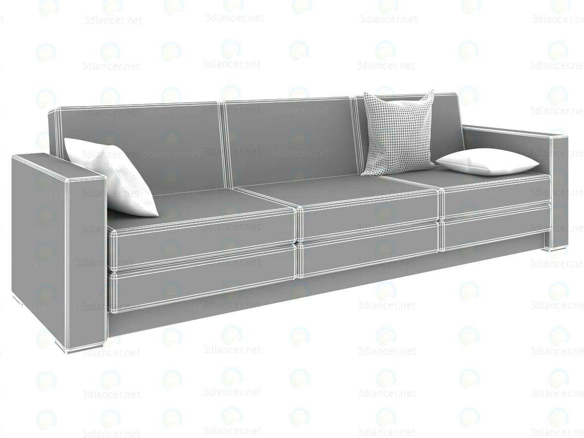3d model Sofa minimalism 2700h800h800mm - preview