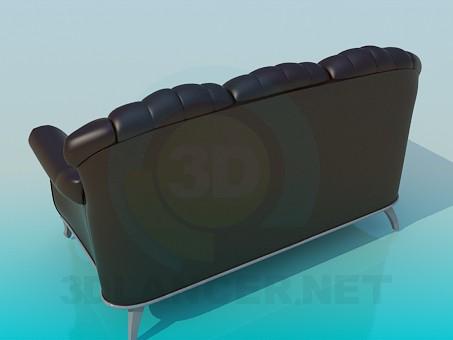 3d модель Кожанный диван – превью