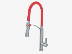Waschtischarmatur - Chrome rot Gerbera (BGB R720)