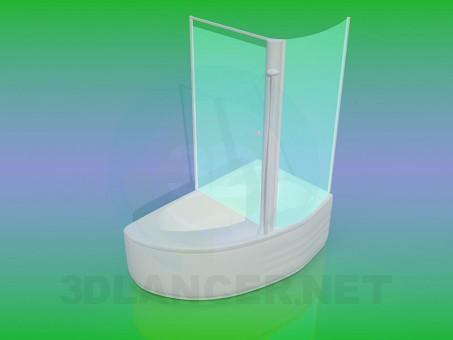 modelo 3D Cabina de ducha - escuchar
