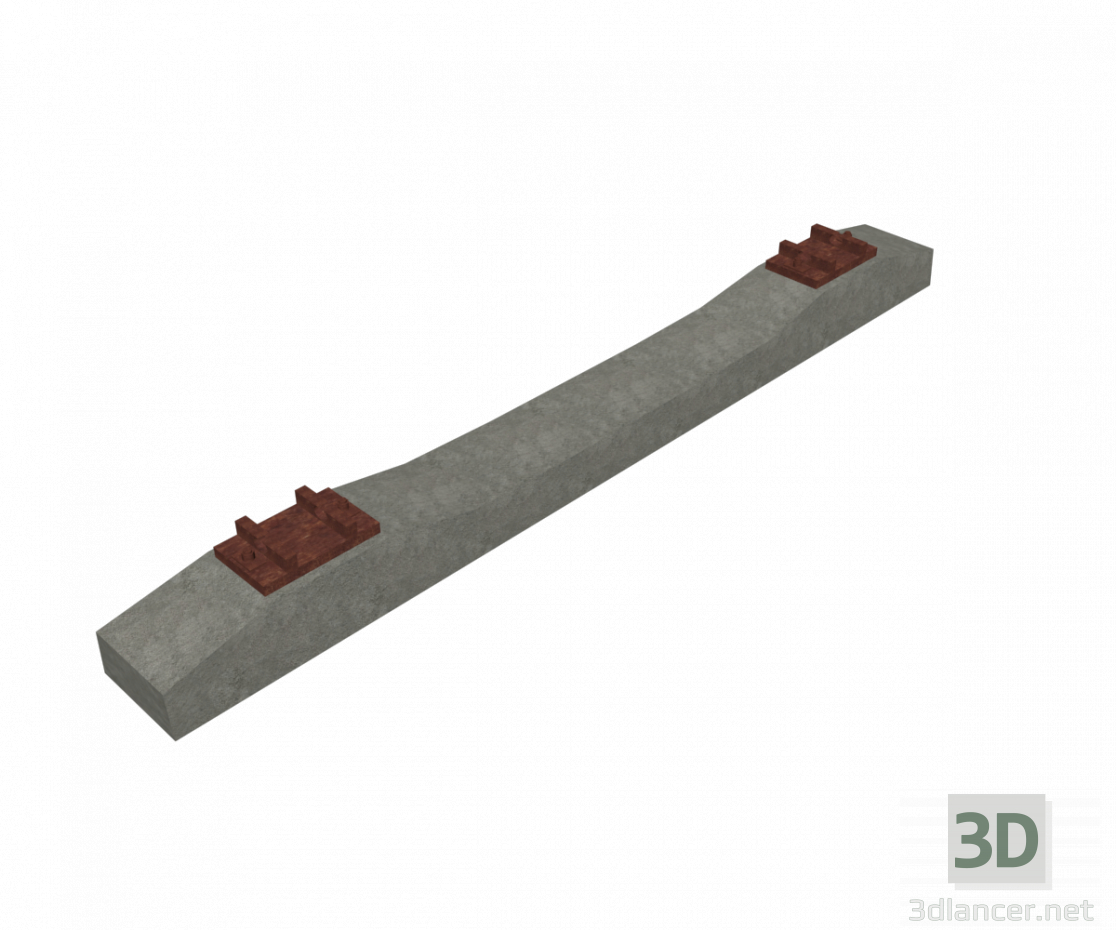 3d Reinforced concrete sleepers with textures model buy - render