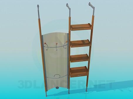 3d modeling Clothes hanger in corridor model free download