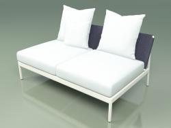 Central sofa module 006 (Metal Milk, Batyline Blue)