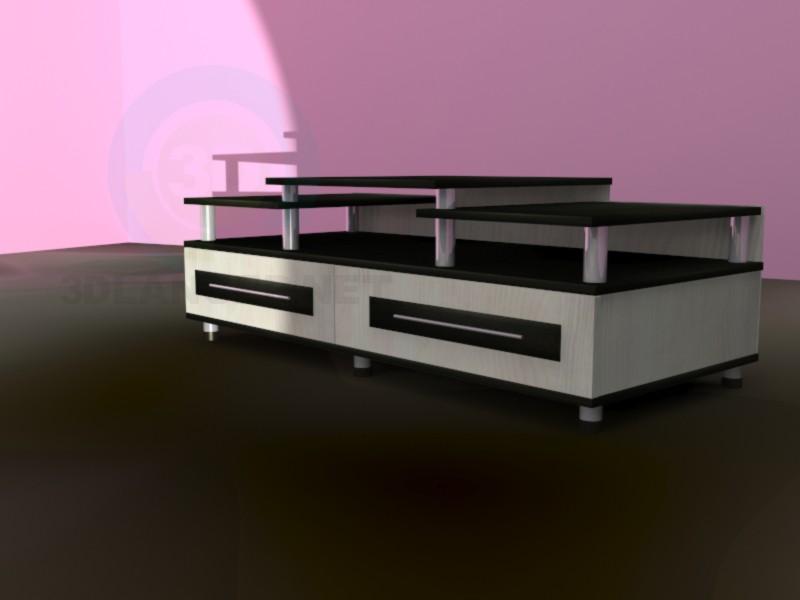 3d моделирование Тумба под телевизор модель скачать бесплатно