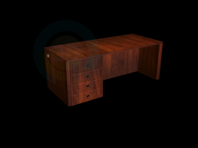 3d model Director's table - preview