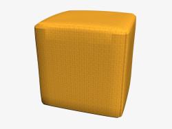 Stone pouf cubo