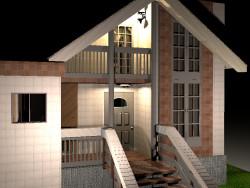 Casa con portico