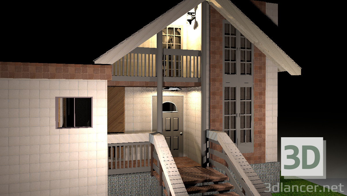 Anspruchsvoll Haus Mit Veranda Beste Wahl 3d Modell - Vorschau
