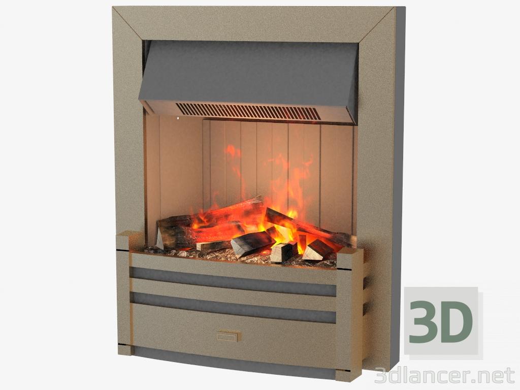 3 डी मॉडल इलेक्ट्रिक चिमनी शेर्लोट - पूर्वावलोकन