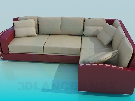 3d modeling Corner couch model free download
