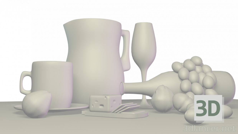 3d model beer - preview