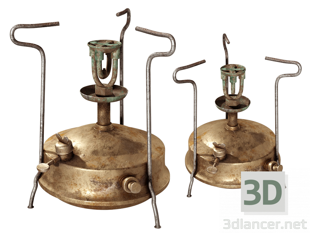 3d model Old copper primus - preview