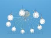 Lampadario con palle illuminate