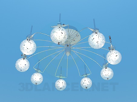 3d modeling Chandelier with illuminated balls model free download