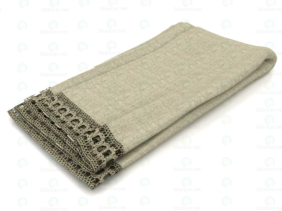 3d modeling Flax blanket model free download