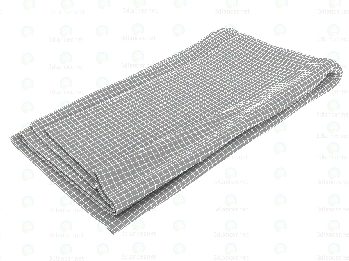 3d model Flax blanket - preview