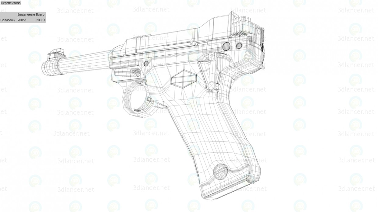 3d model Gun Lahti L35 - preview