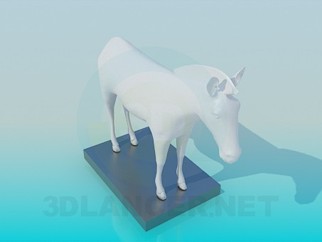 3d model Statue of - preview