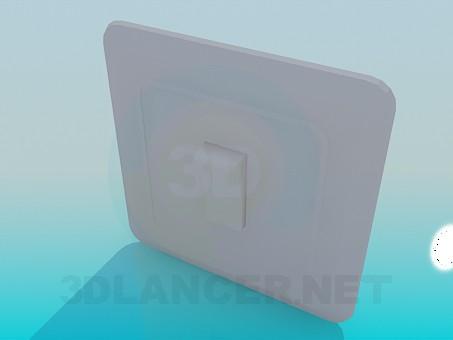 modelo 3D Interruptor - escuchar