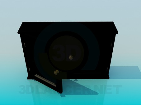 3d модель Комод на дві секції – превью