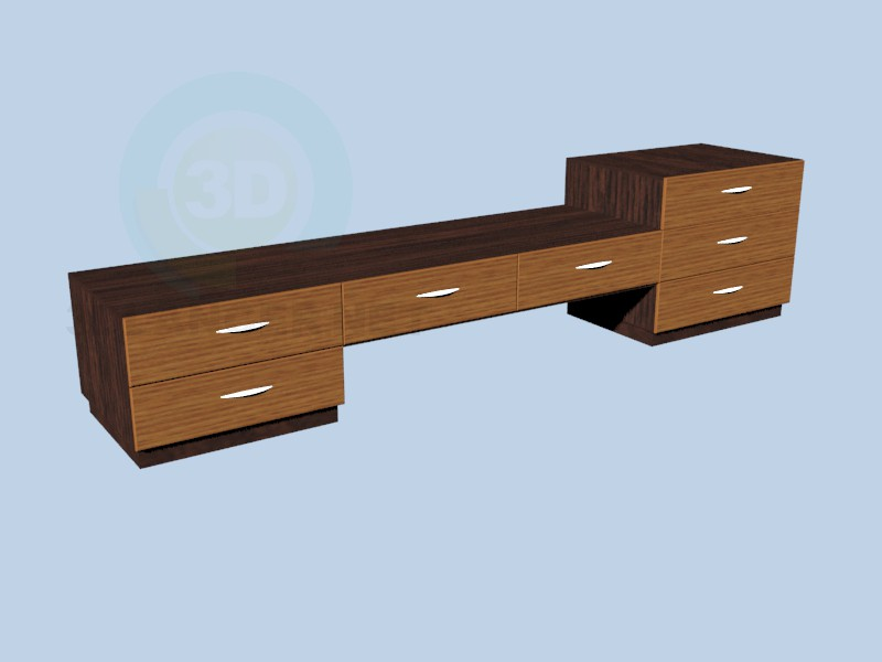 3d model Long cupboard - preview