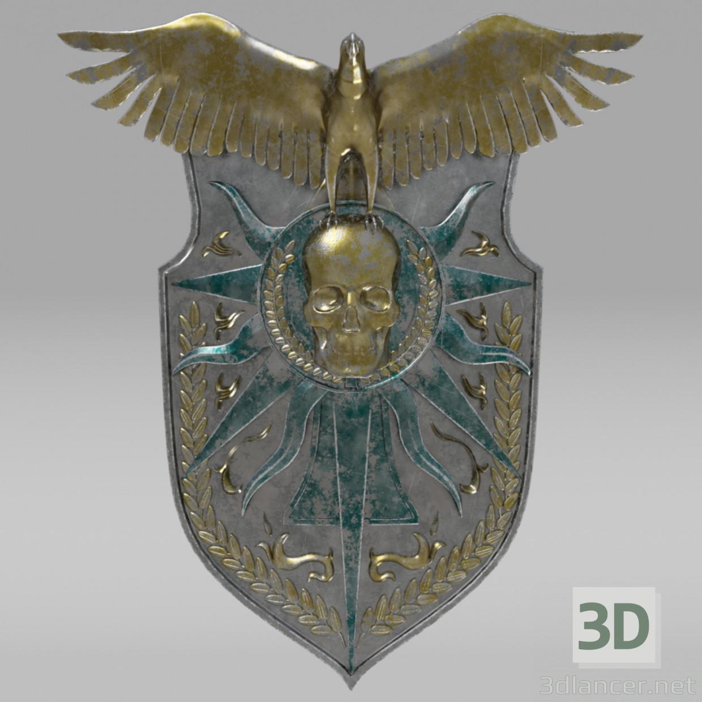 3d Fantasy shield/Фентези щит model buy - render