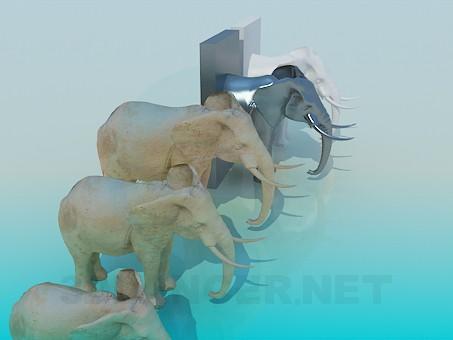 modelo 3D Estatua de - escuchar