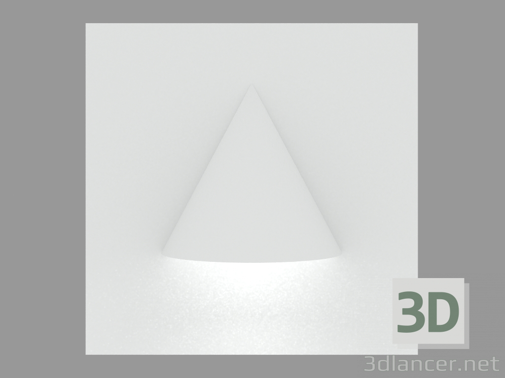 3d model Recessed wall light MINIDIAPASON SQUARE (S4573) - preview