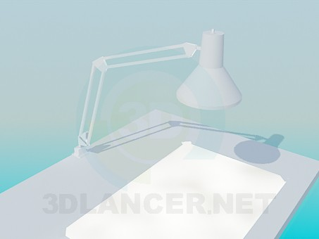 3d model Table for experiments - preview