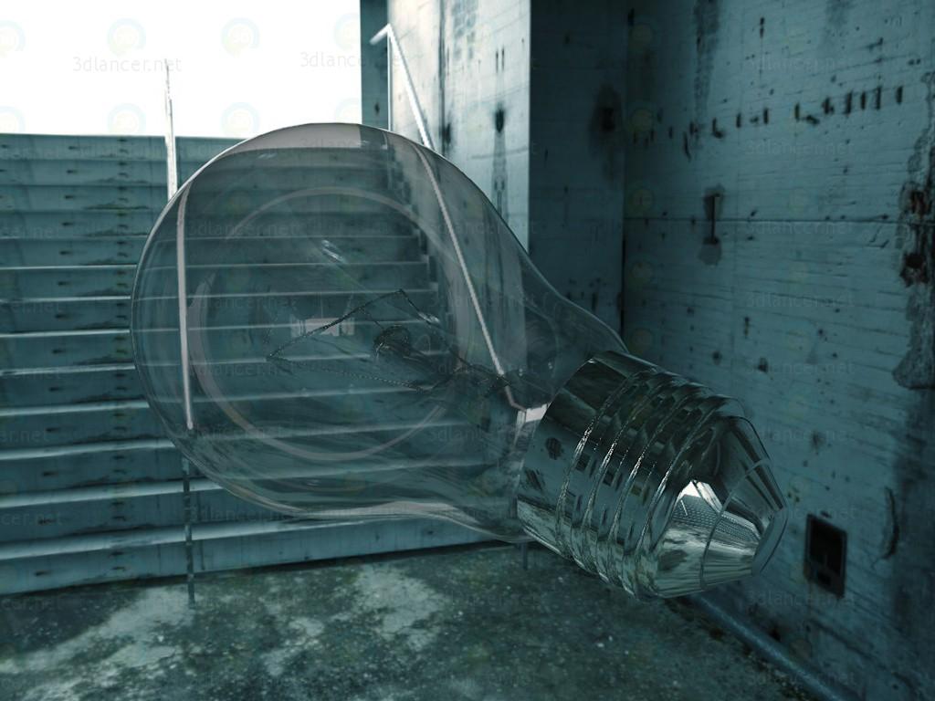 modelo 3D Foco - lámpara - escuchar