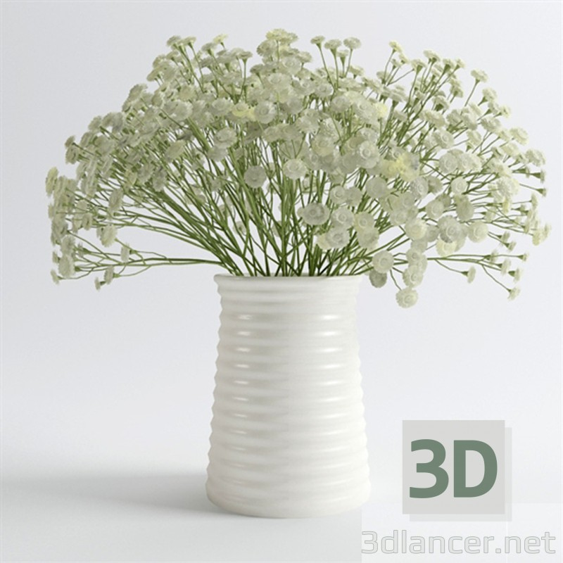 3d model Bouquet of beautiful flowers in a vase - preview