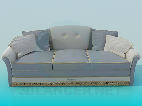 descarga gratuita de 3D modelado modelo Sofá gris
