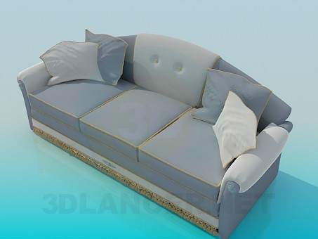 3d model Gray sofa - preview