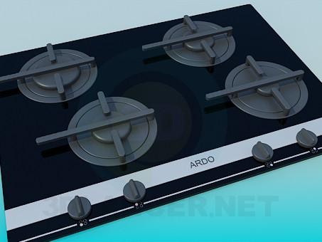 3d модель Газовая плита ARDO – превью