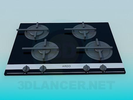 3d model Gas cooker ARDO - preview