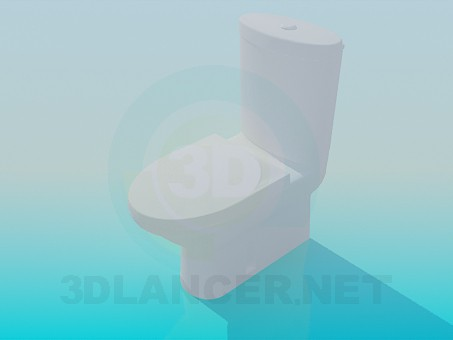 3d модель Унитаз с бачком – превью