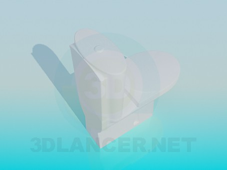 3d model Toilet with tank - preview