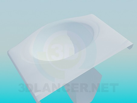 3d модель Подвесной умывальник – превью